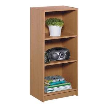 HOME Maine Half Width Small Extra Deep Bookcase - Oak Effect 91.5 x 42cm