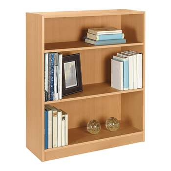 HOME Maine Small Extra Deep Bookcase - Beech Effect 91.5 x 78cm