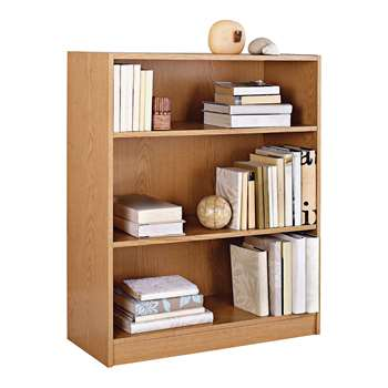 HOME Maine Small Extra Deep Bookcase - Oak Effect 91.5 x 78cm