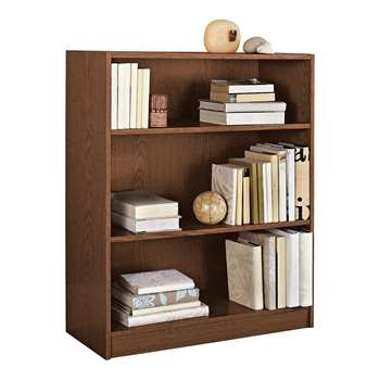 HOME Maine Small Extra Deep Bookcase - Walnut Effect 91.5 x 78cm