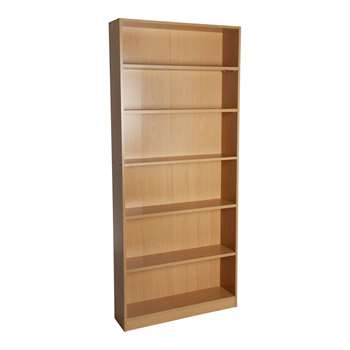 HOME Maine Tall Wide Bookcase - Beech Effect 180 x 78cm