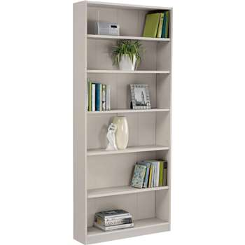 HOME Maine Tall Wide Bookcase - Putty (180 x 78cm)