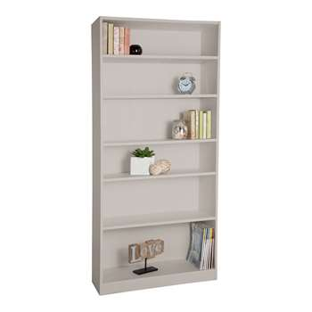 HOME Maine Tall Wide Extra Deep Bookcase - Putty 180 x 78cm