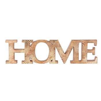 HOME Mango Wood Word Wall Art (H11.5 x W45 x D2cm)