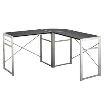 HOME Metal Corner Desk (72 x 130cm)