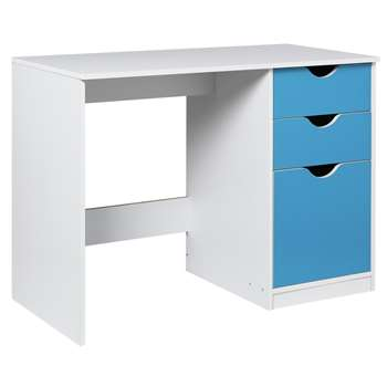 HOME New Pagnell Desk - Blue (71.5 x 100cm)
