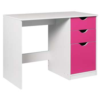 HOME New Pagnell Desk - Pink (71.5 x 100cm)