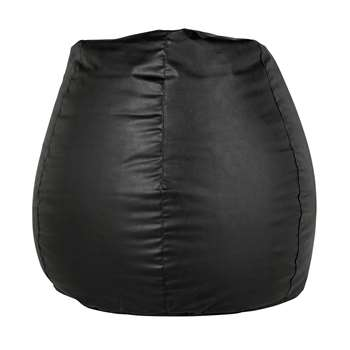HOME New Pear Extra Large Leather Effect Beanbag - Black