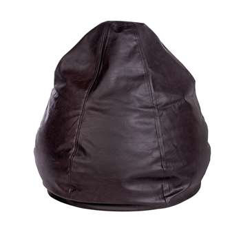 HOME New Pear Extra Large Leather Effect Beanbag - Chocolate