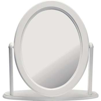 HOME Oval Dressing Table Mirror - White (42 x 42cm)