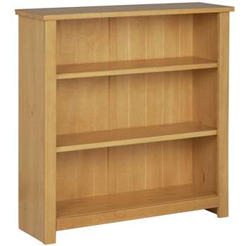 HOME Porto 2 Shelf Solid Wood Bookcase - Oak Effect (82.6 x 77cm)