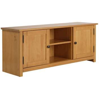 HOME Porto Solid Wood TV Unit - Oak Effect