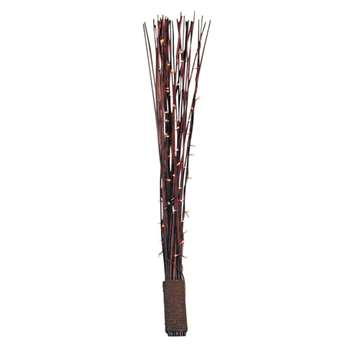 HOME Rope Bound Dark Reed Floor Lamp - Chocolate (125 x 18cm)