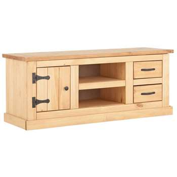 HOME San Diego 2 Drawer TV Unit - Solid Pine