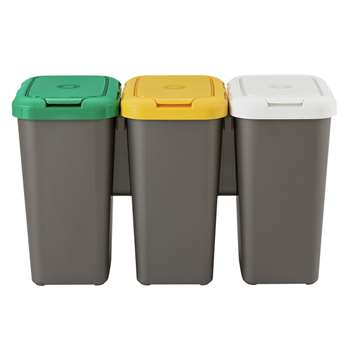 HOME Set of 3 Recycling Bins 47.4 x 78.5cm