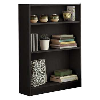 HOME Small Bookcase - Black (82.5 x 65cm)