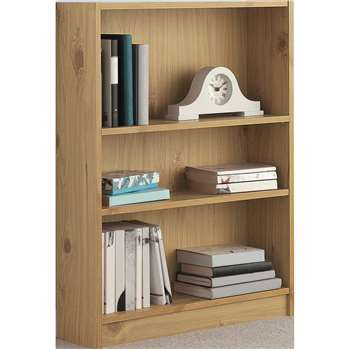 HOME Small Bookcase - Oak Effect (82.5 x 65cm)