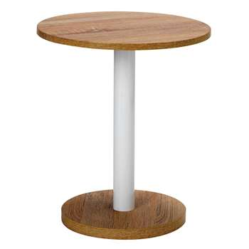 HOME - Small Lamp Side Table - Oak (45.8 x 40cm)