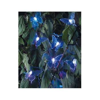 HOME Solar Colour Changing Butterfly Lights - Set of 20