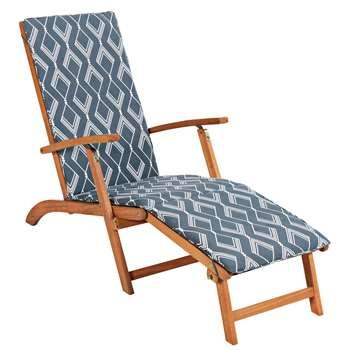 HOME Steamer Chair with Zig Cushion (91 x 56 x 160cm)