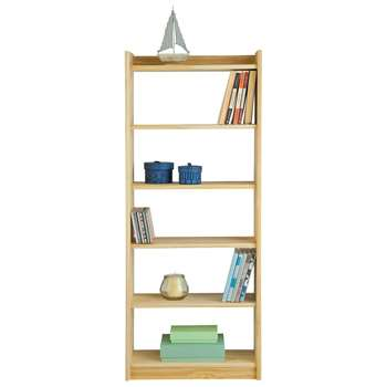 HOME Unfinished 6 Shelf Solid Pine Storage Unit (123.6 x 50cm)