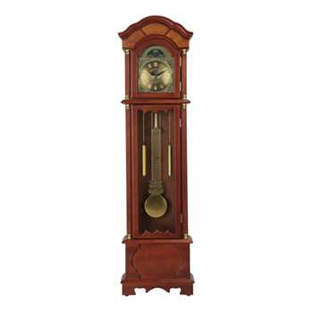 HOME Walnut Floor Standing Pendulum Grandfather Clock (Height 183cm)