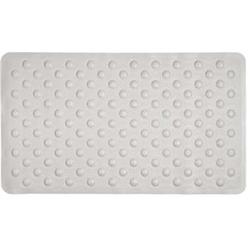 HOME White Rubber Bath Mat 40 x 70cm