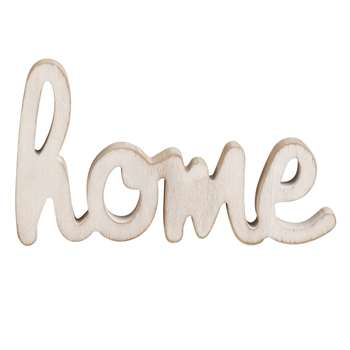 HOME Whitewashed Word Décor (12 x 21cm)