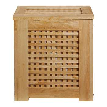 HOME Wooden Laundry Bin - Natural 55 x 52cm