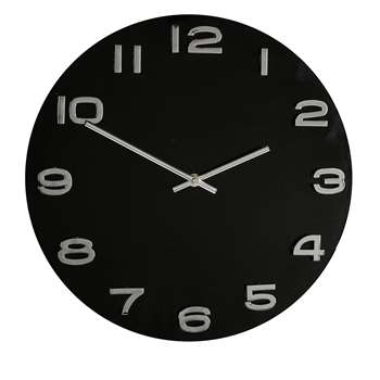 Hometime Wall Clock Black (Diameter 35cm)
