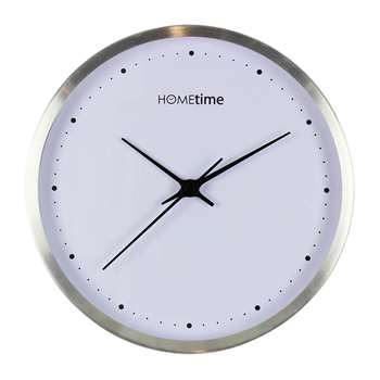 Hometime Wall Clock Silver (Diameter 26cm)