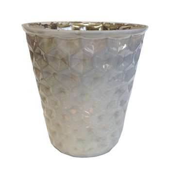 Honeycomb Fluted Glass Votive (10 x 10cm)