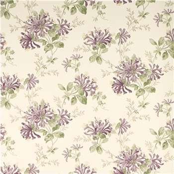 Honeysuckle Trail Grape Floral Wallpaper