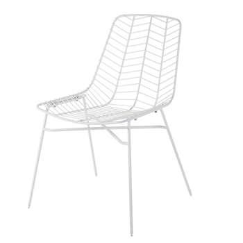 HONOLULU Matte White Openwork Metal Garden Chair (H86 x W58 x D57cm)