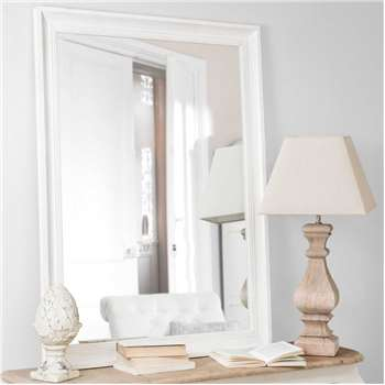 HONORÉ Fir Wood Mirror In Beige (120 x 90cm)