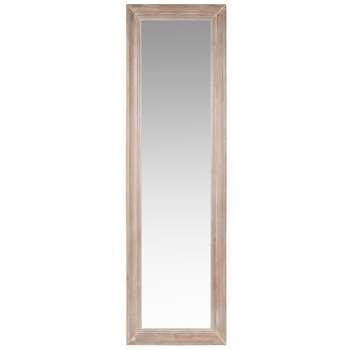 HONORE - Bleached White Paulownia Cheval Mirror (H170 x W50 x D5cm)