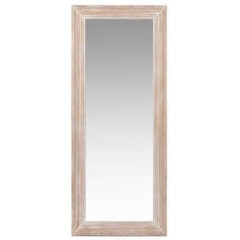 HONORE - Bleached White Paulownia Mirror (H130 x W54 x D3.5cm)