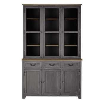 HONORINE Wooden dresser in grey (195 x 130cm)