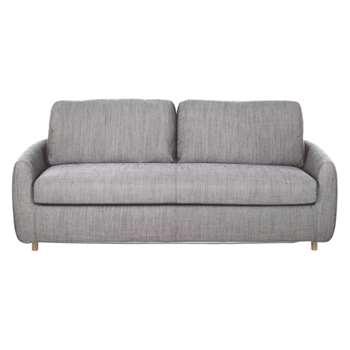 Honovi Black & white Italian woven 3 seater sofa bed