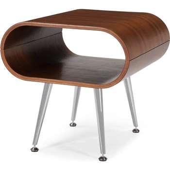 Hooper Storage Side Table, Walnut (45 x 45cm)