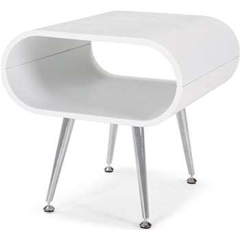 Hooper Storage Side Table, White (45 x 45cm)