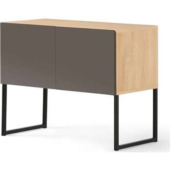 Hopkins Sideboard, Oak and Grey (65 x 80cm)