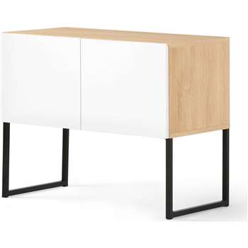 Hopkins Sideboard, Oak and White (65 x 80cm)