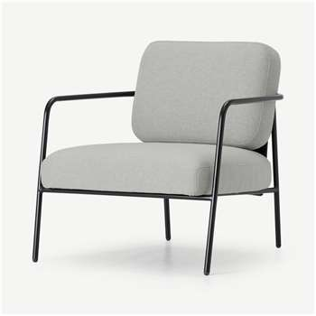 Hopper Accent Armchair, Hail Grey and Marl Grey (H72 x W69 x D72cm)
