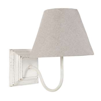 HORTENSE white wooden wall lamp (29 x 20cm)