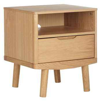 House by John Lewis Bow 1 Drawer Bedside Table (Width 46cm)