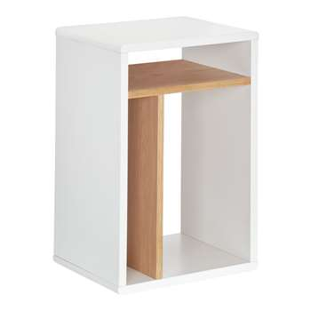 House by John Lewis Bow Box Bedside Table, White (H54 x W37 x D30cm)