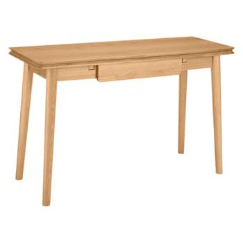 House by John Lewis Bow Folding Console Table, Oak (H78 x W120 x D45cm)