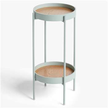 House by John Lewis Jax Small Side Table, Dusty Green (H60 x W32 x D32cm)