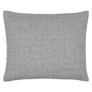 House by John Lewis Jersey Cushion, Steel (H30 x W40cm)
